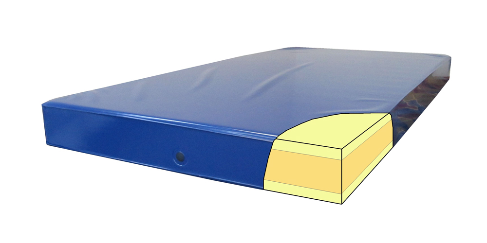 Sureline 6-inch Dark Blue Urethane Institutional Mattress